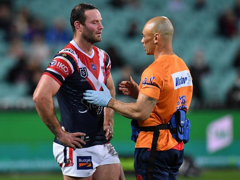 Roosters captain Boyd Cordner (l) is ready to return from his third head knock of the season.